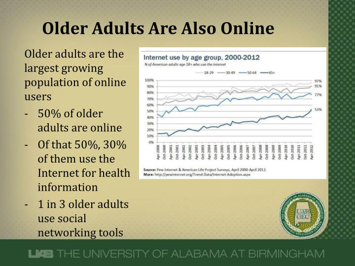 Older adults are also online