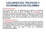 los aspectos pol ticos y econ micos en colombia