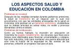 los aspectos salud y educaci n en colombia