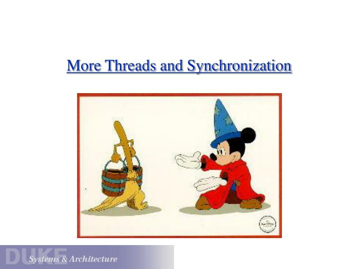 more threads and synchronization n.