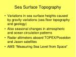 sea surface topography
