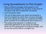 using spreadsheets to plot graphs