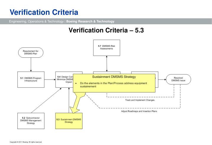 Verification Criteria
