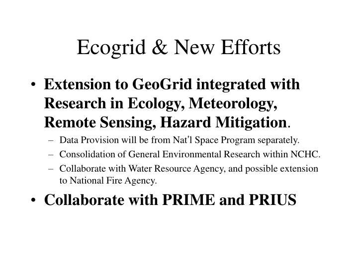 Ecogrid & New Efforts