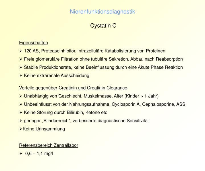 Nierenfunktionsdiagnostik