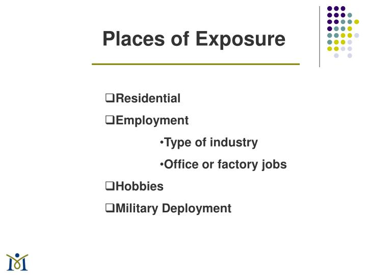 Places of Exposure