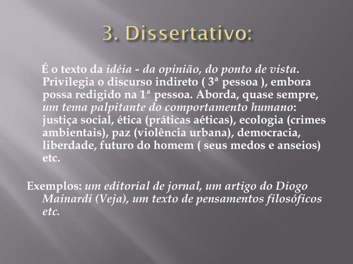 3. Dissertativo:
