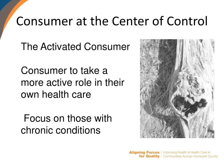 Consumer at the Center of Control