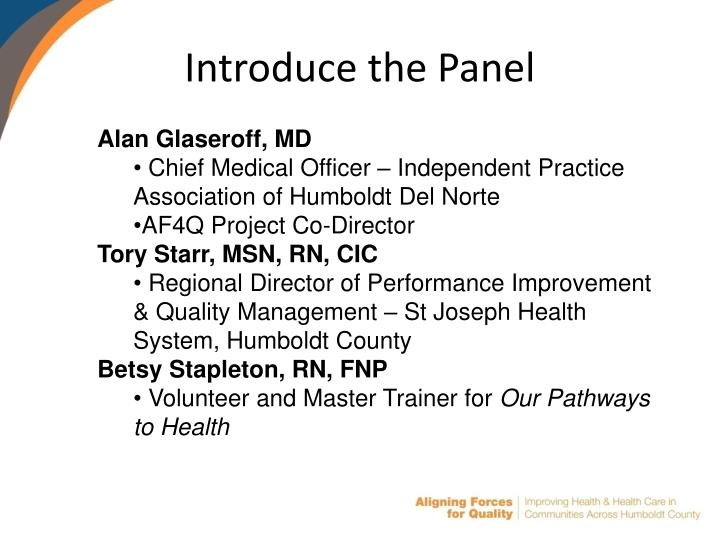 Introduce the Panel