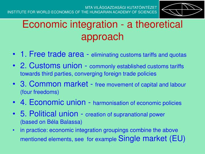 Economic integration a theoretical approach