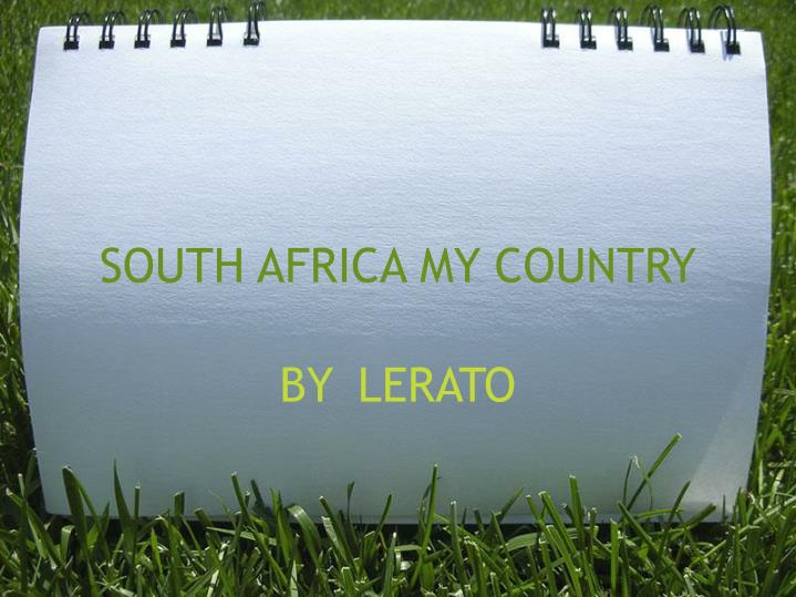 south africa my country n.