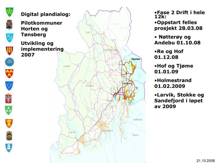 Digital plandialog: