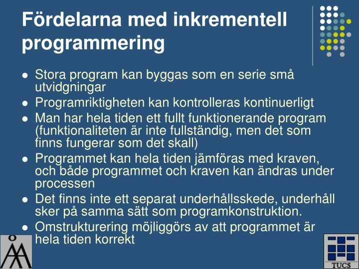 Fördelarna med inkrementell programmering