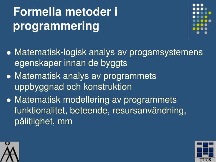 Formella metoder i programmering