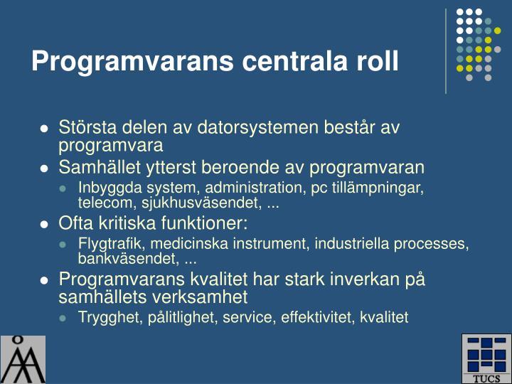 Programvarans centrala roll