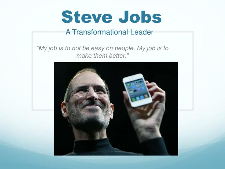 steve jobs a transformational l eader n.
