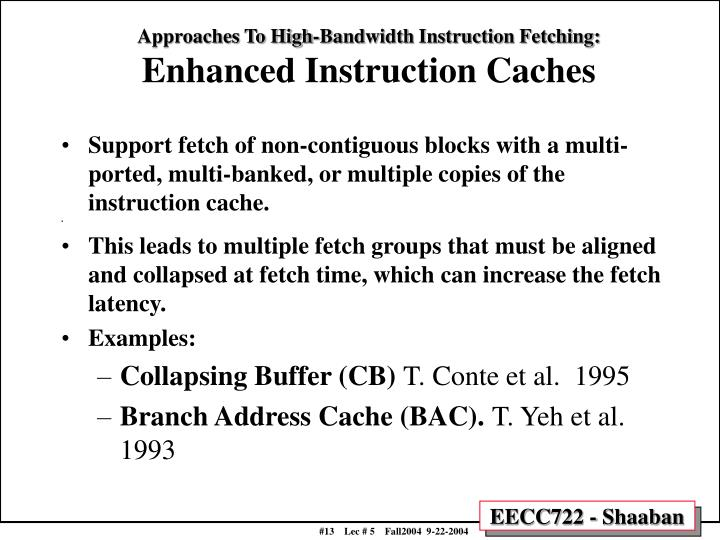 Approaches To High-Bandwidth Instruction Fetching: