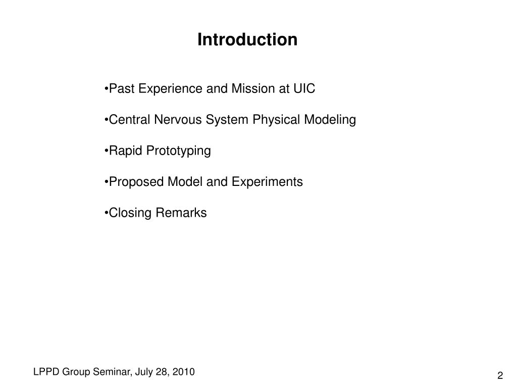PPT - Physical models for brain physics: PowerPoint