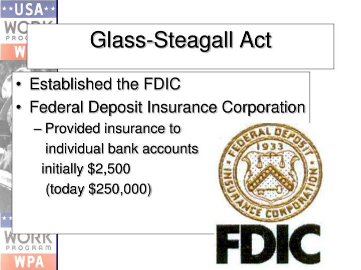 Established the FDIC