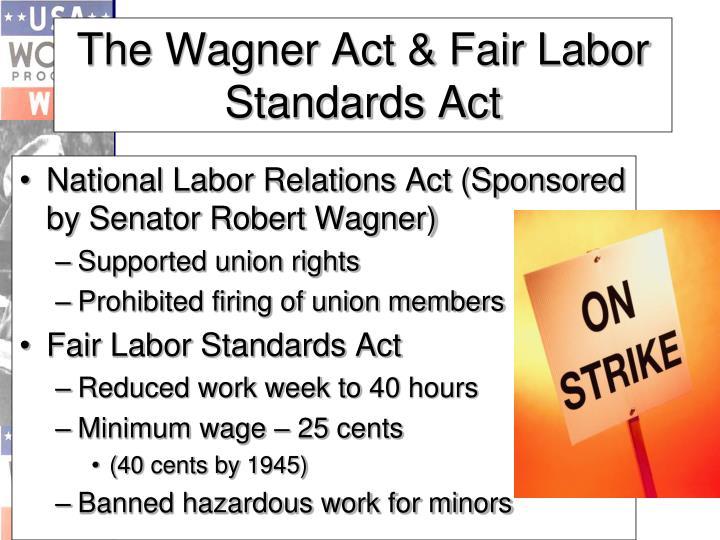 National Labor Relations Act (Sponsored by Senator Robert Wagner)