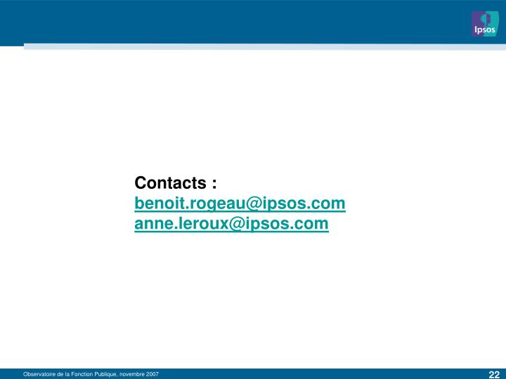 Contacts :