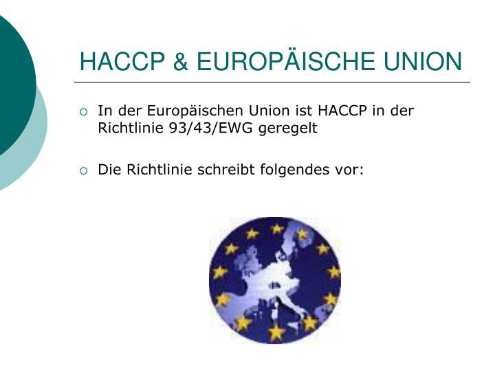 HACCP & EUROPÄISCHE UNION