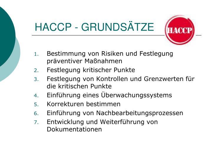 HACCP - GRUNDSÄTZE