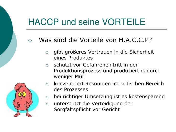 HACCP und seine VORTEILE