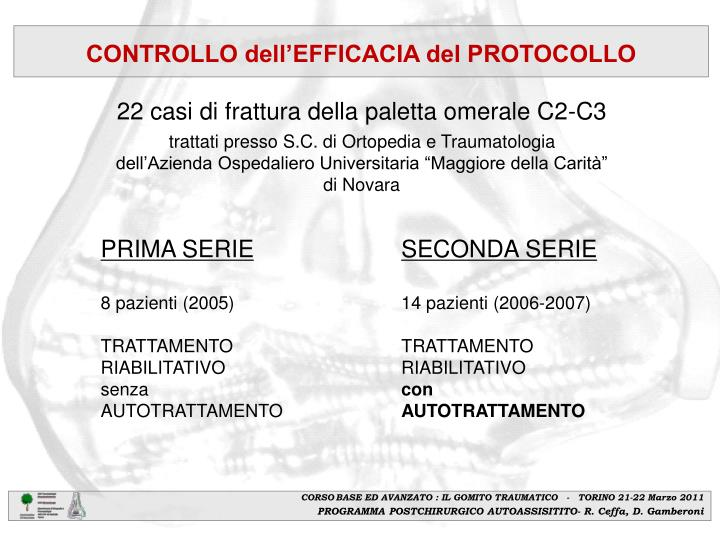 CONTROLLO dell'EFFICACIA del PROTOCOLLO