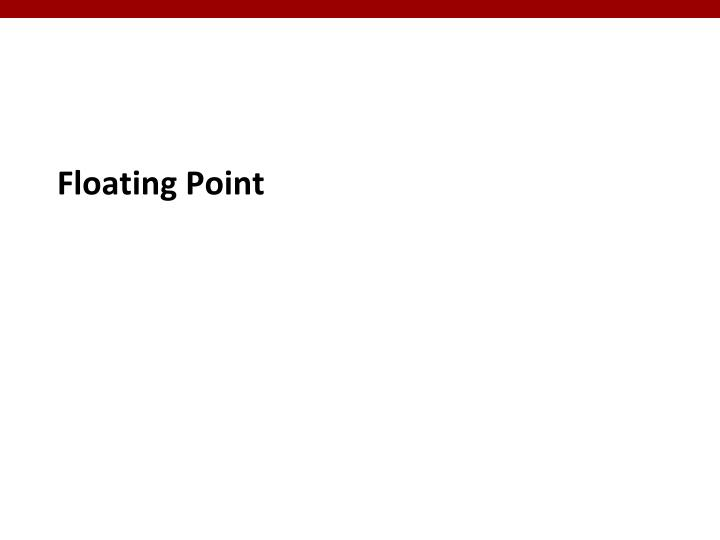 Floating point