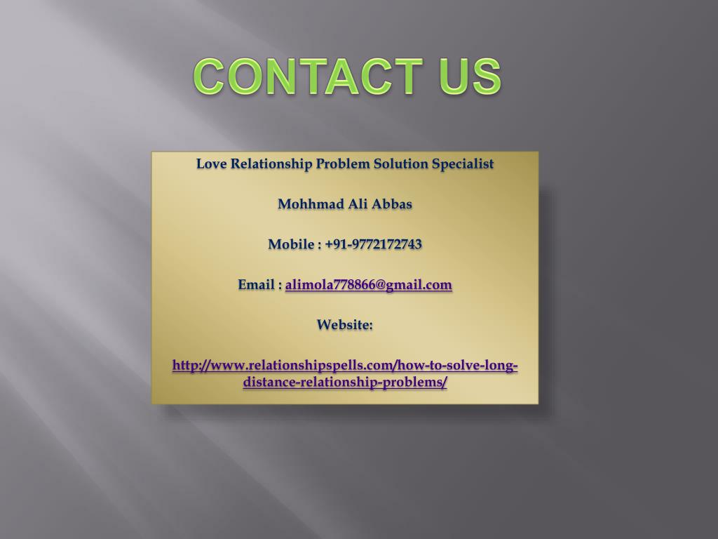 PPT - How to Solve Long Distance Relationship Problems