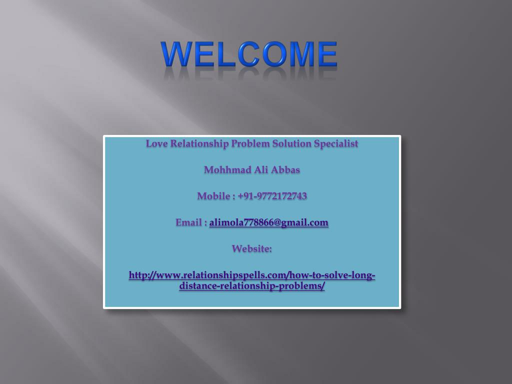 PPT - How to Solve Long Distance Relationship Problems PowerPoint