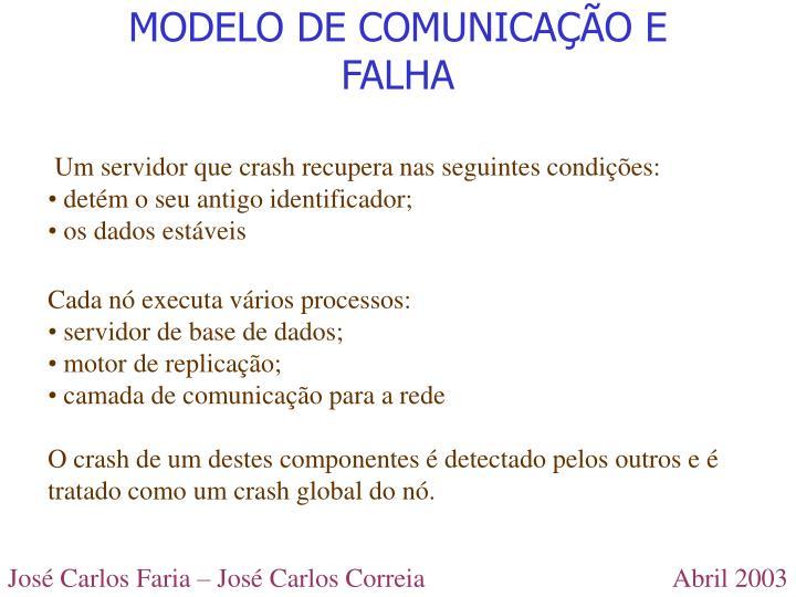 MODELO DE COMUNICAÇÃO E FALHA