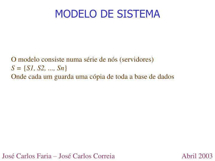MODELO DE SISTEMA