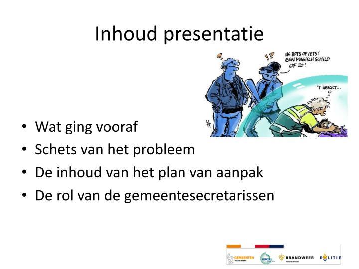Inhoud presentatie