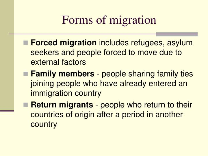 Forms of migration