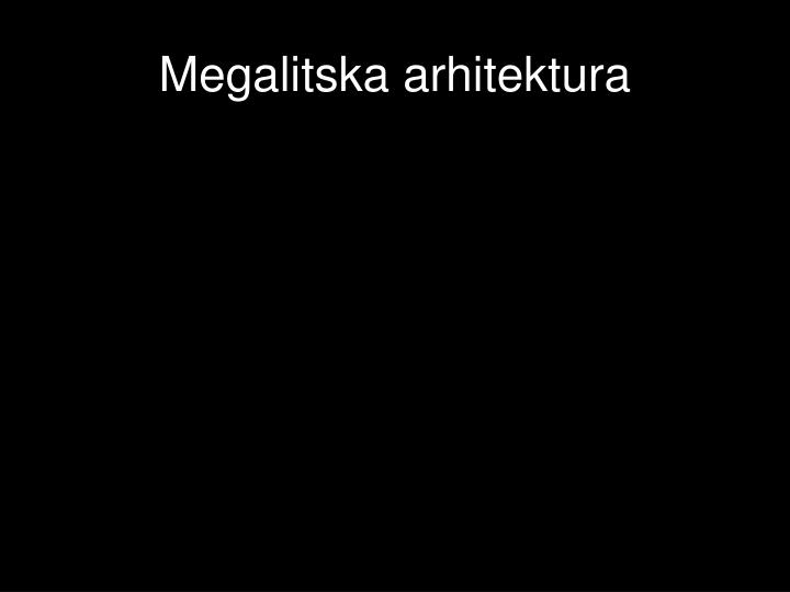Megalitska arhitektura
