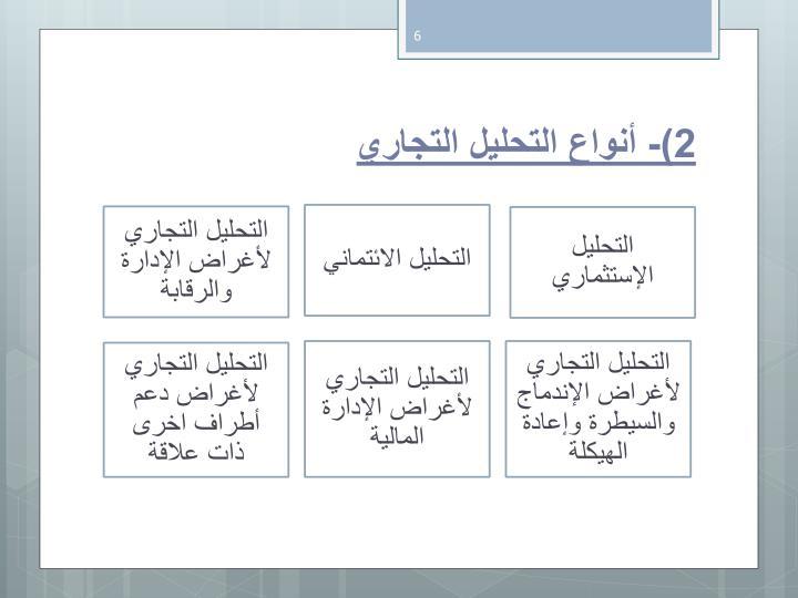 2)- أنواع التحليل التجاري