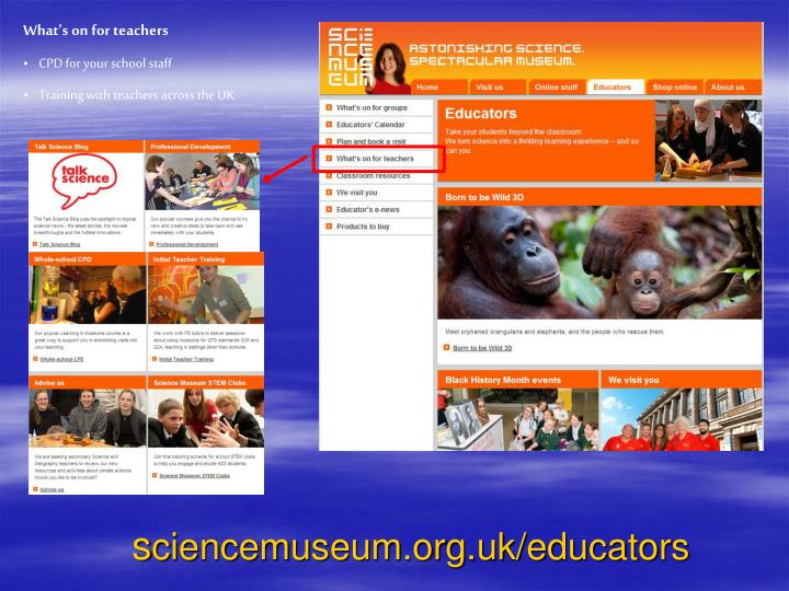 What's on for teachers