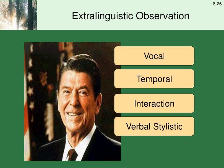 Extralinguistic Observation