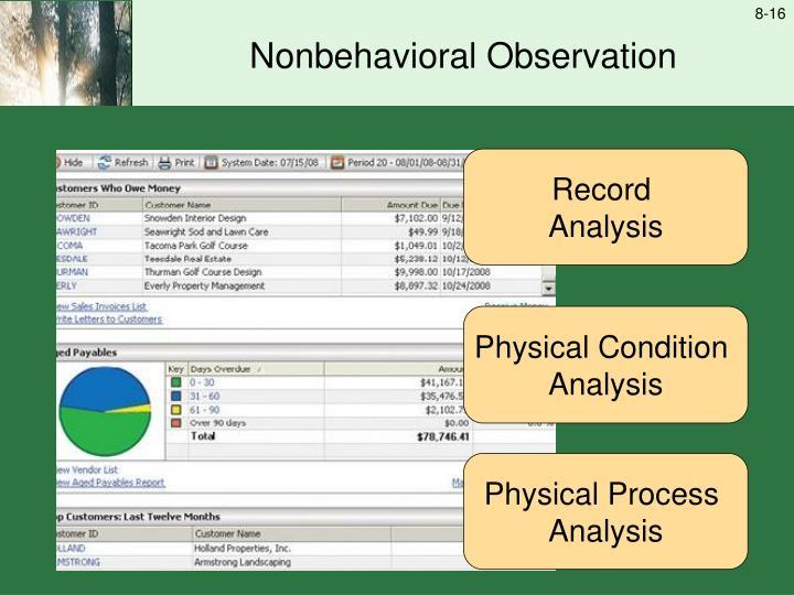 Nonbehavioral Observation