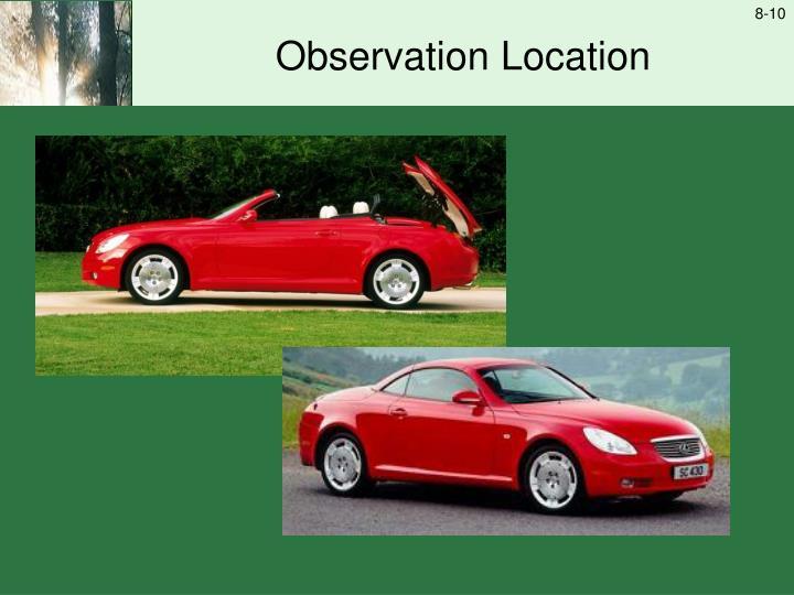 Observation Location