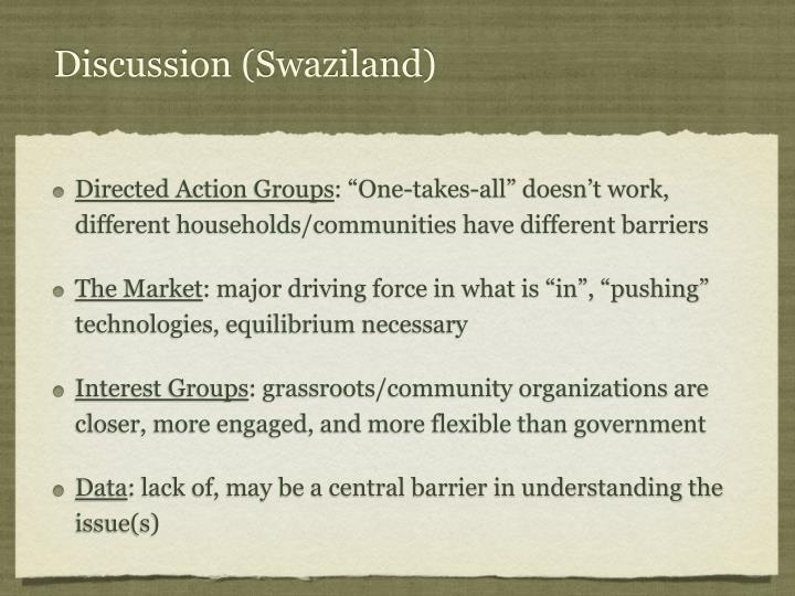 Discussion (Swaziland)