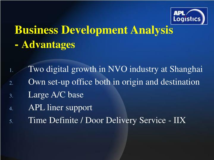 Business Development Analysis -