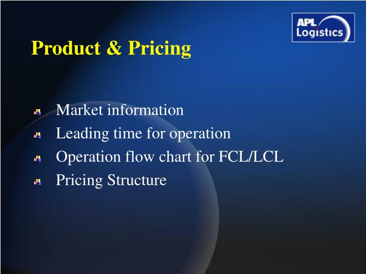 Product & Pricing