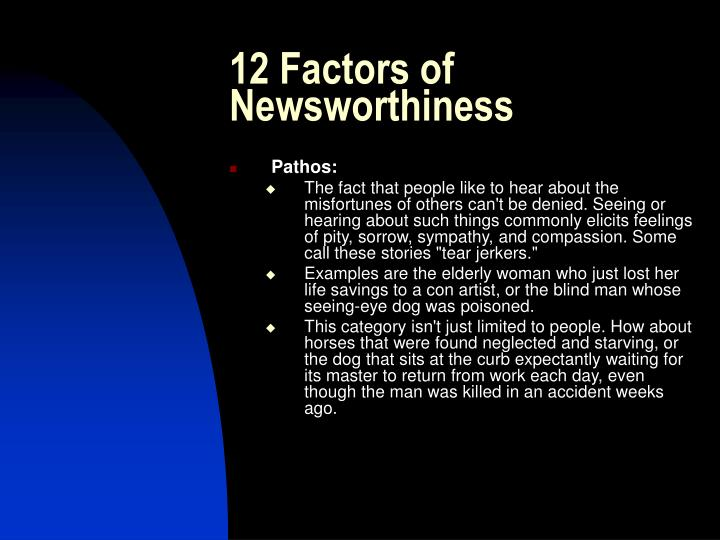 12 Factors of Newsworthiness