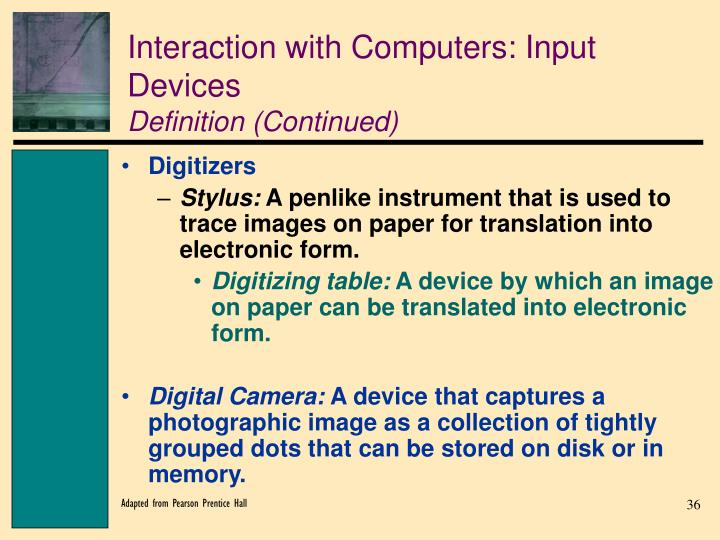Interaction with Computers: Input Devices