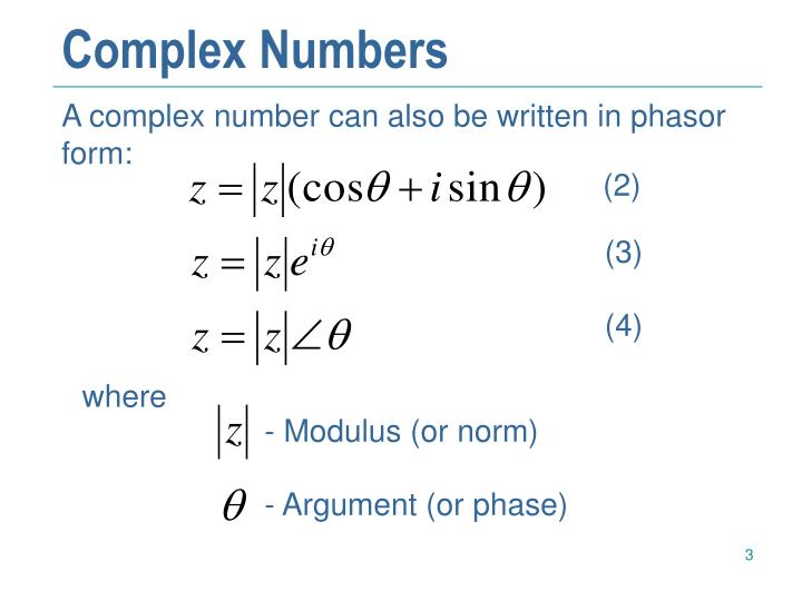 Complex numbers1