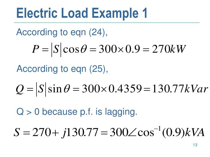 Electric Load Example 1