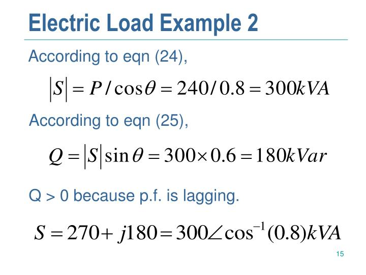 Electric Load Example 2